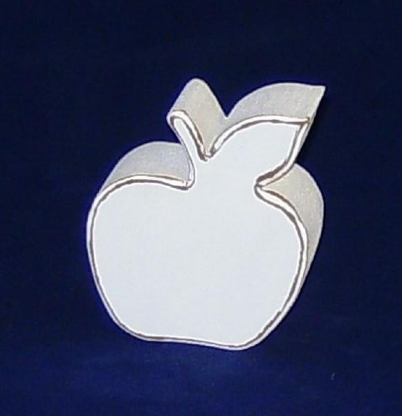 Deko Apfel aus MDF-Holz weiss im Shabby Chic Stil