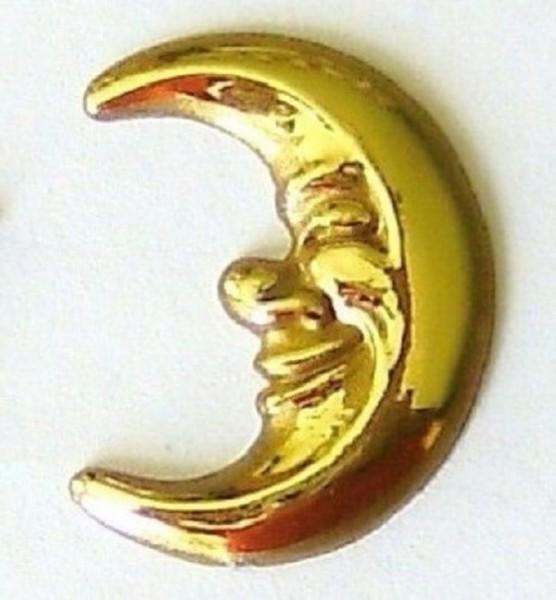 Mond rechts, Streuteil aus Plastik, Gold halbplastisch