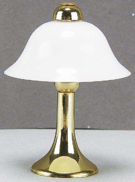 Puppenhaus Mini Tischlampe 3,5V Messingfuß mit Kunststoffschirm