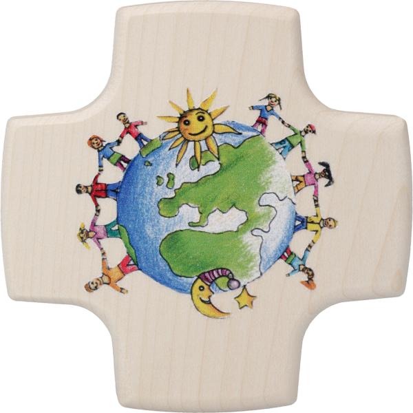 kleines Kommunionkreuz Holz, Kinder dieser Welt