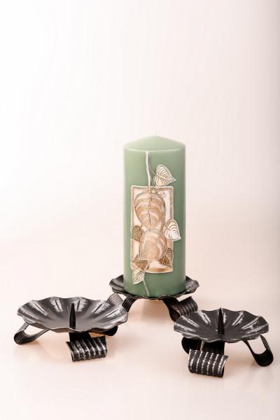 Kerzenleuchter Eisen mit Dorn, schwarz, Leuchter