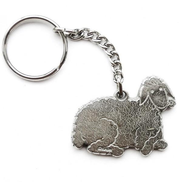 Schlüsselanhänger mit Schaf aus Zinn