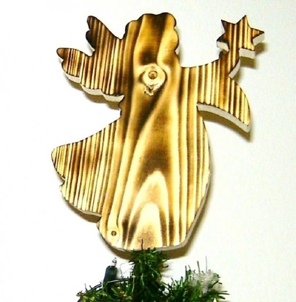 Baumspitze Engel B, Christbaumschmuck Holz Traditonell