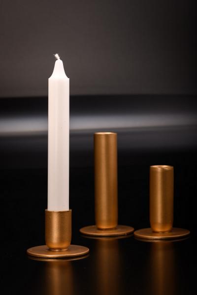 Stabkerzenhalter Eisen, versch. Größen in Gold