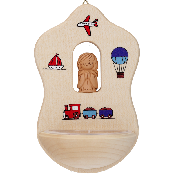 Weihbecken Holz, Tonengel Spielzeug WK4010