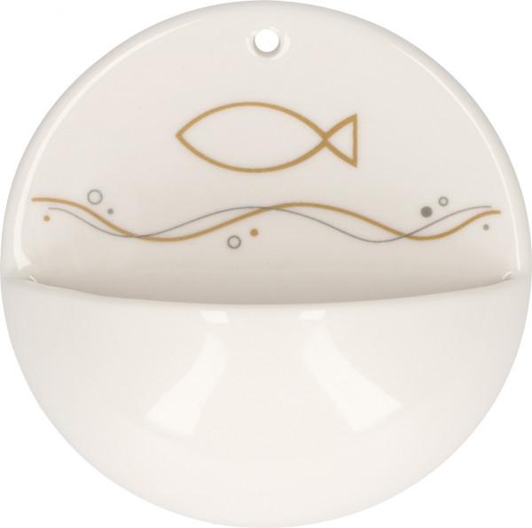 Weihwasserkessel Porzellan - Fisch, Gottes Segen