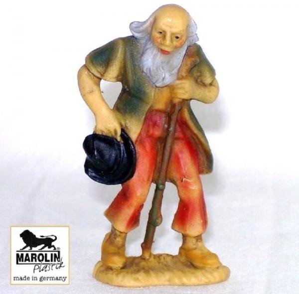Hirt, alt, Krippenfigur 7cm Kunststoff, Marolin Plastik Figur