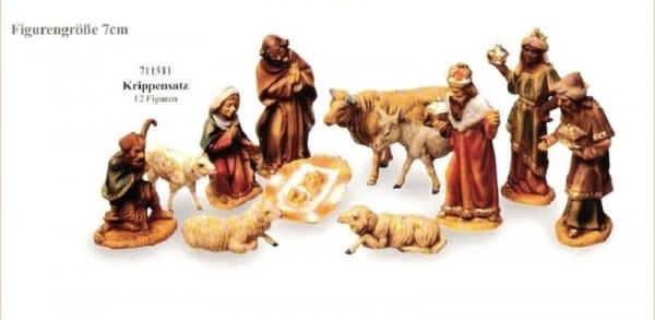 Krippenfiguren Set 12-tlg. 7cm Kunststoff, Marolin Plastik