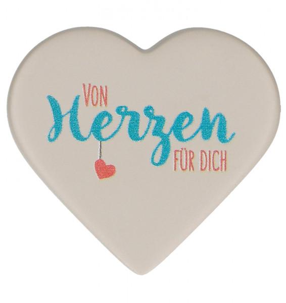 Magnet Feinbeton Herz - von Herzen für dich