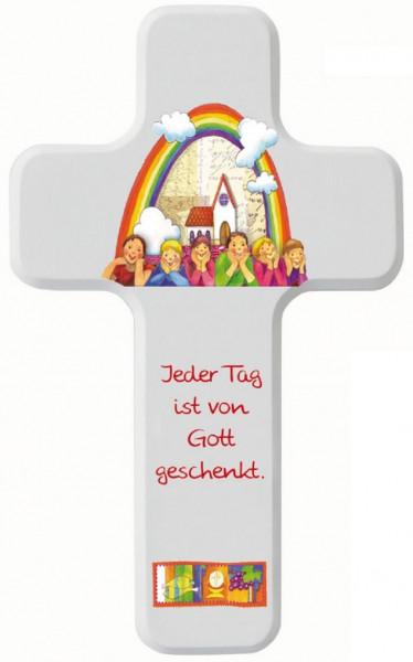 Kinderholzkreuz - Kreuz, Jeder Tag ist von Gott