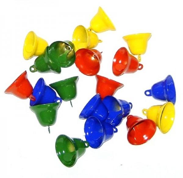 20 St. Glocken, kleine Glöckchen farbig sort. 28mm zum basteln
