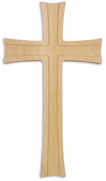Holzkreuz Buchenholz, natur, lackiert