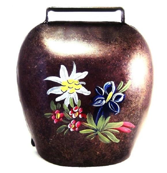 Kuhglocke tiroler Art 16cm, mit Alpenblumen