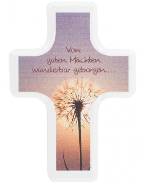 Handschmeichlerkreuz Holz - von guten Mächten