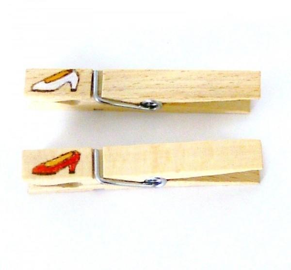 Wiesnglupperl Holzklammer mit Motiv Damenschuh, einseitig