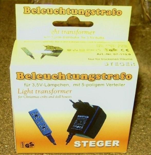 Beleuchtungstrafo für 3,5V Lämpchen, Steger Trafo