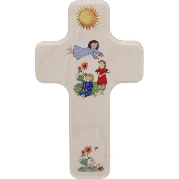 Kinderkreuz Holz, Motiv Begleite mich mit..10 x 6cm