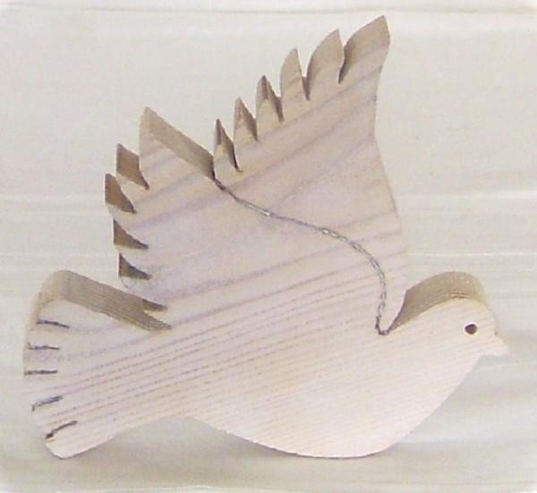 Taube Holz weiss, Dekofigur, Hochzeit Tischdeko im Landhausstil