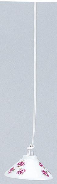 Miniatur Hängelampe 3,5V Porzellanschirm