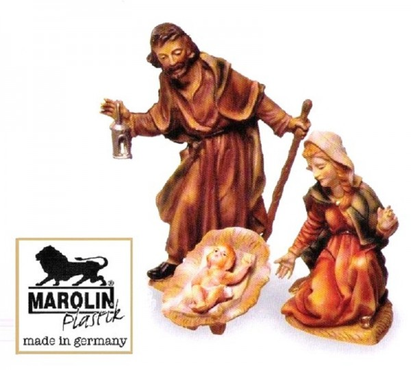 Heilige Familie zu 12cm Krippenfigur Marolin Plastik Figur
