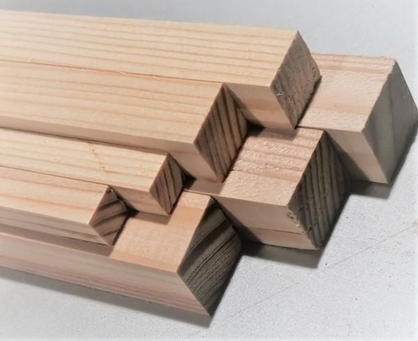 Bastelholz Stäbe aus Lärchenholz