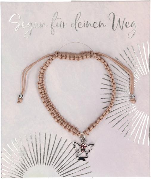 Armband geknüpft -Segen für deinen Weg mit Engel