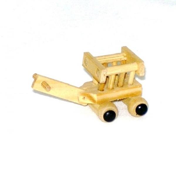 Miniatur, Holz Leiterwagen 3x3x2,5cm Krippenzubehör