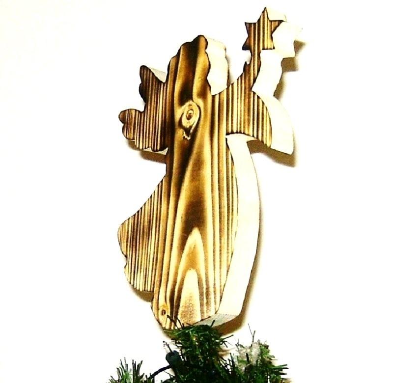 baumspitze engel b christbaumschmuck holz traditionell. Black Bedroom Furniture Sets. Home Design Ideas