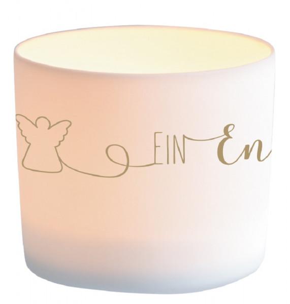 Windlicht Porzellan - Ein Engel für dich