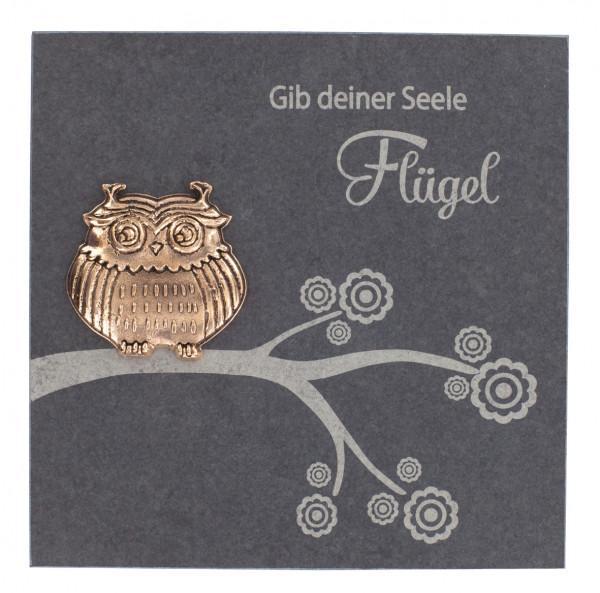 Schiefertafel-Schieferrelief - Gib deiner Seele Flügel