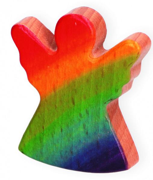Handschmeichler Holz, Regenbogen-Engel coloriert