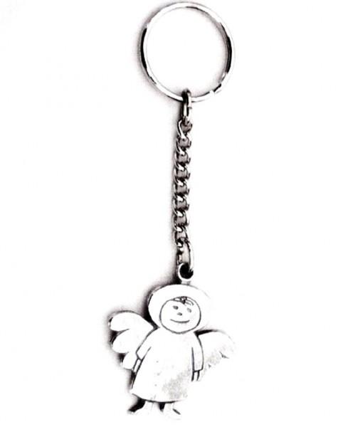 Schlüsselanhänger Schutzengel Laurenz aus Metall