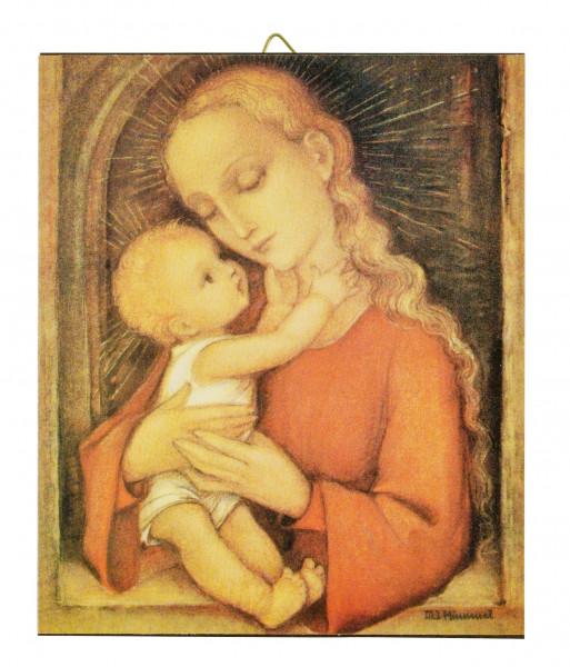 Holzbild Hummel Madonna geblockt 10x12x1cm