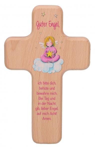 Kinderholzkreuz - Kreuz mit Motiv Guter Engel