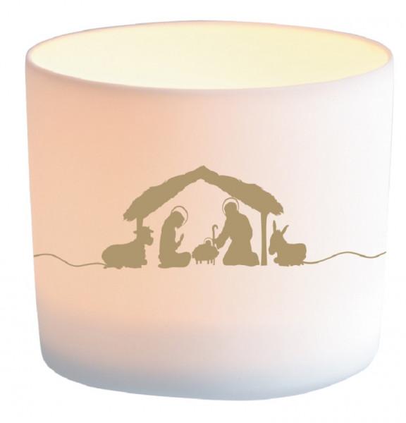 Windlicht Porzellan - Friede und Segen