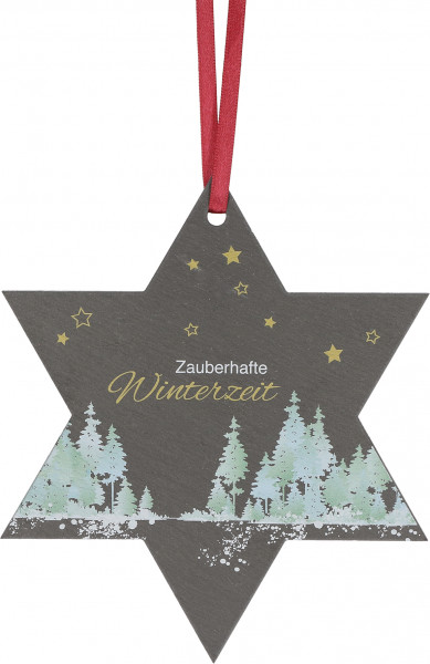 Stern aus Schiefer- Zauberhafte Winterzeit
