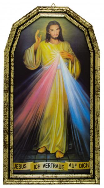 Barmherziger Jesus mit Rahmen goldfarben, 79/275