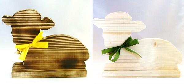 Deko Schaf liegend, Wohnraumdeko Holz im Landhausstil