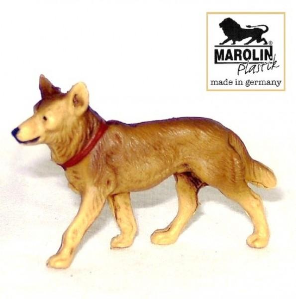 Schäferhund, Krippenfigur zu 9cm Kunststoff, Marolin Plastik