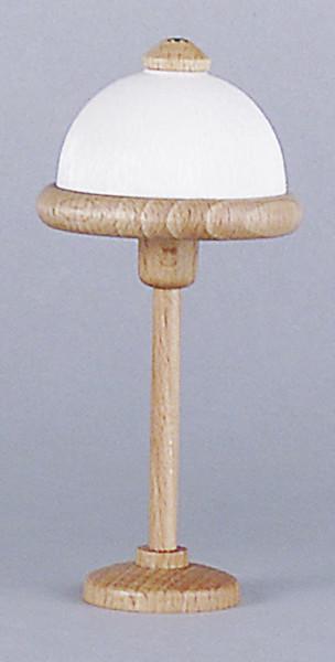 Puppenhaus Mini Stehlampe 3,5V, mit Holzfuß Kunststoffschirm, Holzring