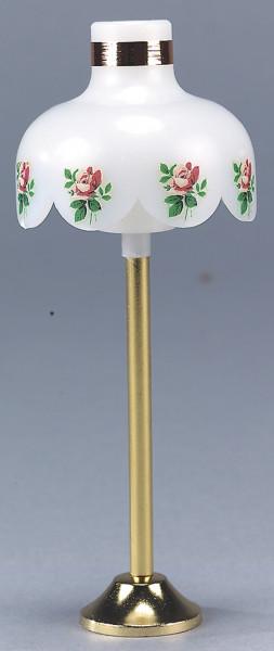 Puppenhaus Mini Stehlampe 3,5V, mit Rosenmotiv