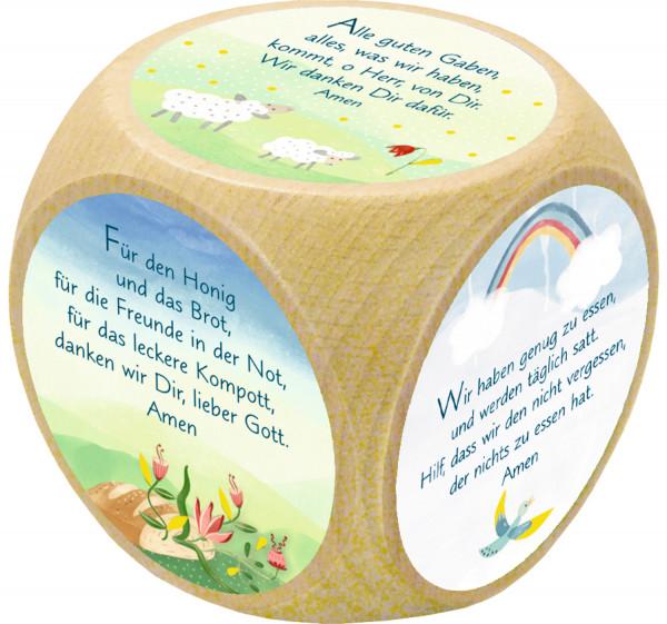 Gebetswürfel Holz bunt, Alle guten Gaben