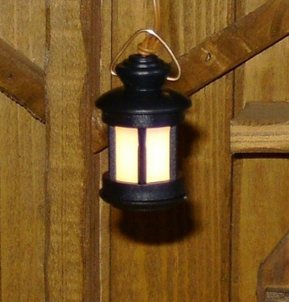 Stalllaterne Laterne rund Kunststoff 3,5cmH Krippenlicht