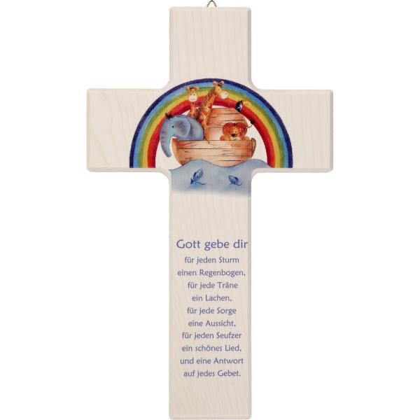 Kinderkreuz aus Holz, mit Motiv Gott gebe dir