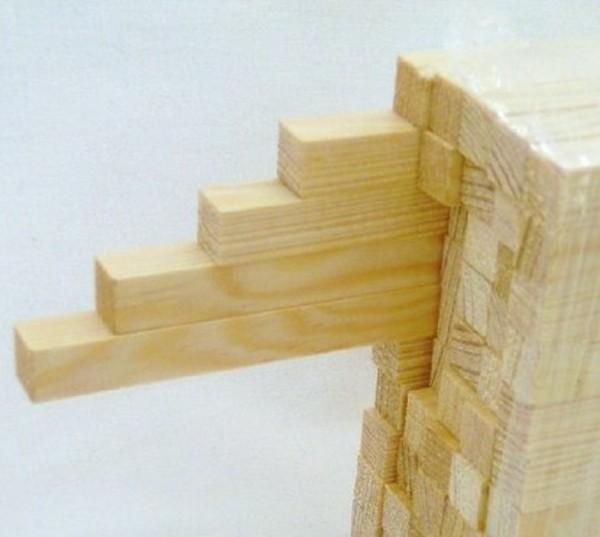 Vierkantstäbe, Leisten aus Kieferholz 10x10mm
