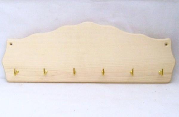 Schlüsselbrett mit 6 Haken Schlüsselleiste Holz, Landhausdeko