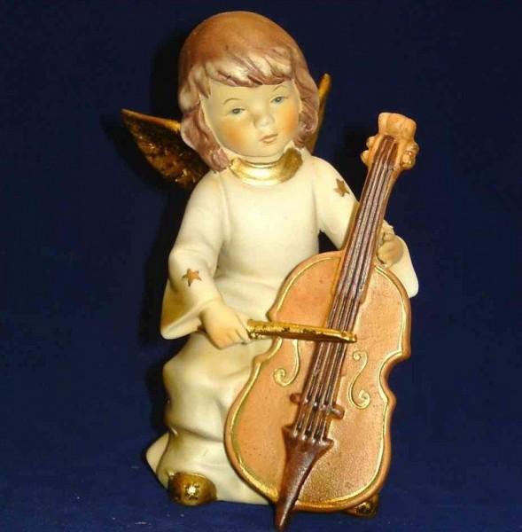 Engel Porzellan musizierend 15cm Cello