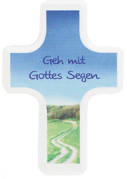 Handschmeichlerkreuz Holz - geh mit Gottes Segen