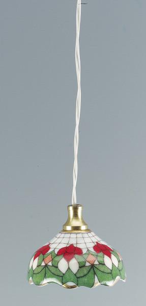 Mini Hängelampe 3,5V LED Porzellan mit Motiv