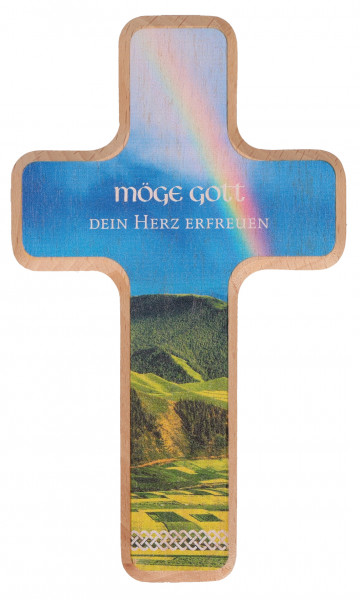 Holzkreuz - Möge Gott dein Herz erfreuen